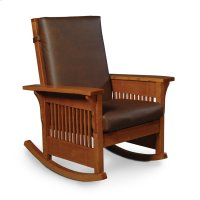 Prairie Mission Lounge Rocker, Fabric Cushion Seat Product Image