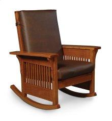 Prairie Mission Lounge Rocker, Leather Cushion Seat