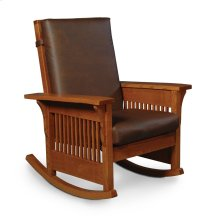 Prairie Mission Lounge Rocker, Leather Cushion Seat