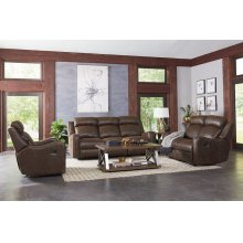 Manaul Motion Brown Glider Recliner