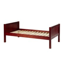 Basic Bed (Low/Low) : Twin : Chestnut : Panel