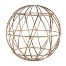 Gold Leaf 12 Inch Geometric Sphere. Product Image
