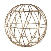 Gold Leaf 12 Inch Geometric Sphere.