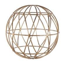 Gold Leaf 12 Inch Geometric Sphere.