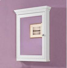 "Shaker Americana 24"" Medicine Cabinet - Polar White"