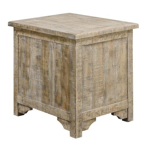 Emerald Home Interlude Chairside Table-sandstone Finish T560-03-05
