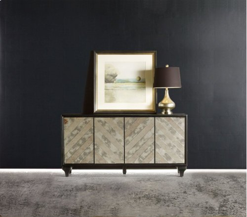 Melange Mirrored Angle Console