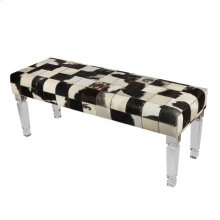 Patchwork Cowhide Bench