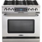 "36"" 6 Burner Gas Convection Range, Dual Fuel, Self Clean Product Image"