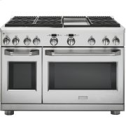 """Monogram 48"""" All Gas Professional Range with 6 Burners and Griddle (Liquid Propane) Product Image"""