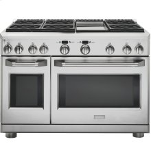 "GE Monogram® 48"" All Gas Professional Range with 6 Burners and Griddle (Liquid Propane)"