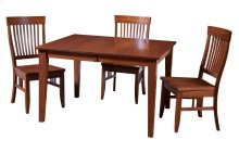 "42/48-2-12"" Leaf Regular Tapered Leg Table"