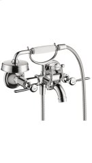 Chrome Montreux Wall-Mounted Tub Filler with Lever Handles Product Image