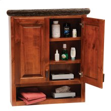 Toilet Topper Cabinet Rustic Maple