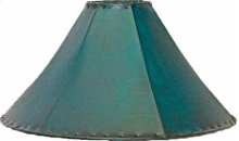 """20"""" shade Teal Leather Lamp Shades 20"""" and 24"""""""