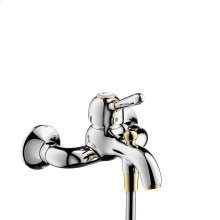 Brushed Gold Optic Single lever bath mixer for exposed installation