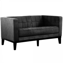 Roxbury Loveseat In Charcoal Fabric