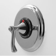 """1/2"""" Thermostatic Shower Set with Charlotte Elite Handle (available as trim only)"""