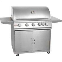 Blaze 40 Inch 5-Burner Grill With Rear Burner On Cart ,Fuel Type - Propane
