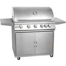 Blaze 40 Inch 5-Burner Grill With Rear Burner On Cart ,Fuel Type - Natural-gas