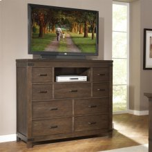 Promenade - Nine Drawer Media Chest - Warm Cocoa Finish