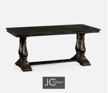 """71"""" Dark Ale Rectangular Fixed Top Dining Table"""