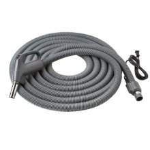 "Current-Carrying Crushproof hose, Central Vacs, 30 feet long x 1-3/8"" inner hose diameter in Dark Gray"