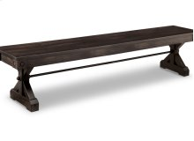 """Rafters 72"""" Bench with Wood Seat"""