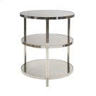 Nickel Plated 3 Tier Table With Antique Mirror Tops Product Image