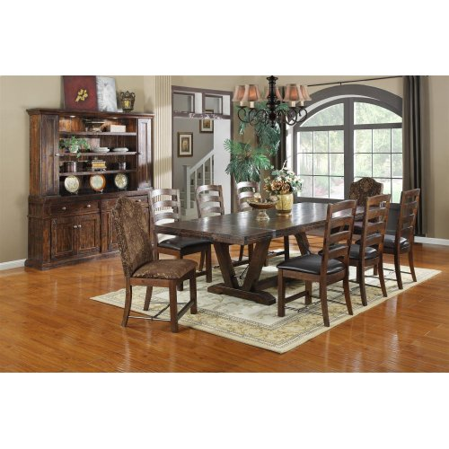Emerald Home Castlegate Dining Table Pine Brown D942dc-10-9pcsetc-k