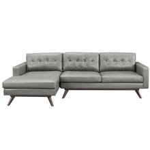 Blake Antique Grey LAF Sectional