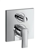 Chrome Single lever bath mixer for concealed installation with lever handle and integrated security combination according to EN1717