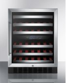 Dual Zone Built-in Wine Cellar With Digital Thermostat, Stainless Steel Trimmed Shelves and Black Cabinet; Replaces Swc530lbist Product Image