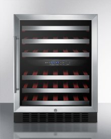 Dual Zone Built-in Wine Cellar With Digital Thermostat, Stainless Steel Trimmed Shelves and Black Cabinet; Replaces Swc530lbist