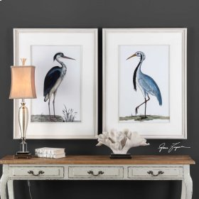 Shore Birds Framed Prints, S/2