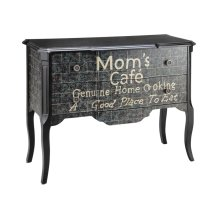 Accent chest 2 drawer caf