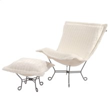 Scroll Puff Chair Mink Snow Titanium Frame