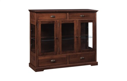 3 Door Dining Chest W/Plain Glass