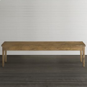 "Bench*Made Maple Live Edge 60"" Hearthside Bench"