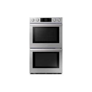 "Samsung Appliances30"" Flex Duo Chef Collection Double Wall Oven in Stainless Steel"