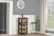 Tuscan Retreat® Basket Stand With Metal Front Drawer and Three Baskets - Smoke Product Image
