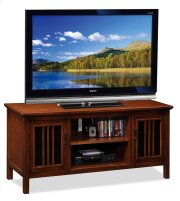 """Amber Cherry & Black Glass 50"""" TV Console Product Image"""
