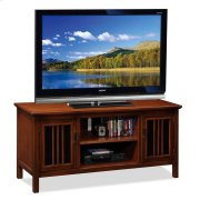 "Amber Cherry & Black Glass 50"" TV Console Product Image"
