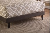Fabric Footboard & Rails - Full - Black/brown Fabric