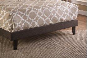 Fabric Footboard & Rails - Full - Black/brown Fabric