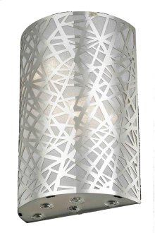 2081 Prism Collection Wall Sconce Chrome Finish (Royal Cut Crystals)