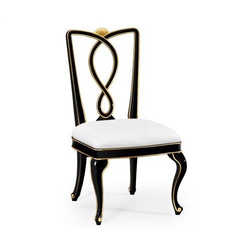 Black Painted Dining Sidechair - COM