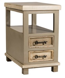 Larose End Table - Rustic White and Gray