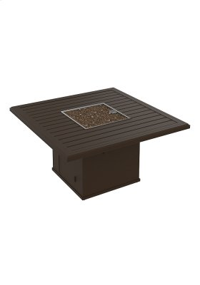 "Banchetto 48"" Square Fire Pit, Built-In Ignitor"