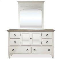 Myra Door Dresser Natural/Paperwhite finish